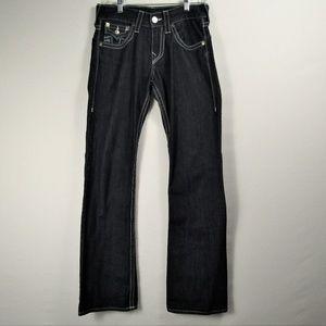 Mens True Religion 28 Deep Blue Jeans NWOT